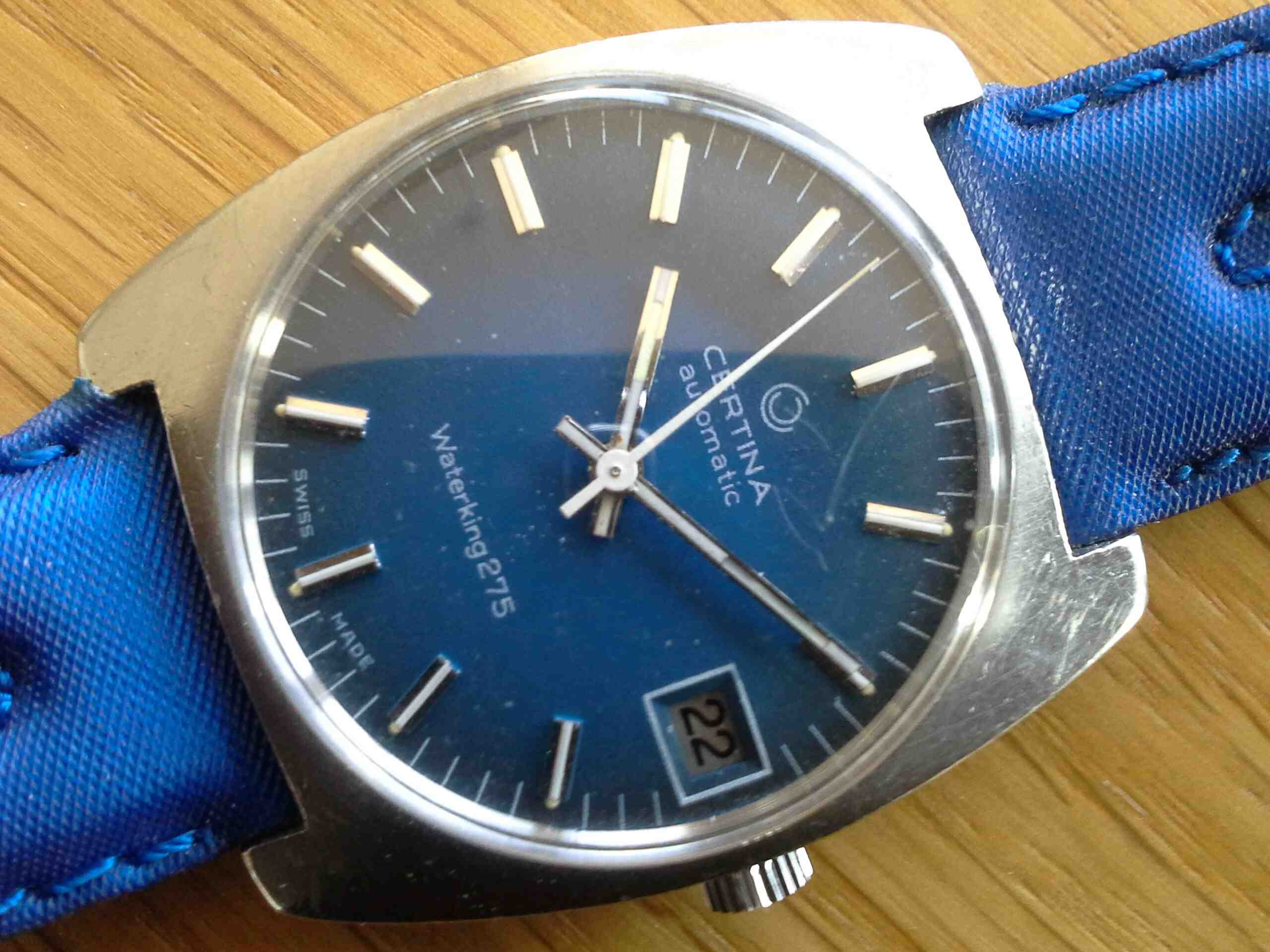 Certina Waterking Blue Dial