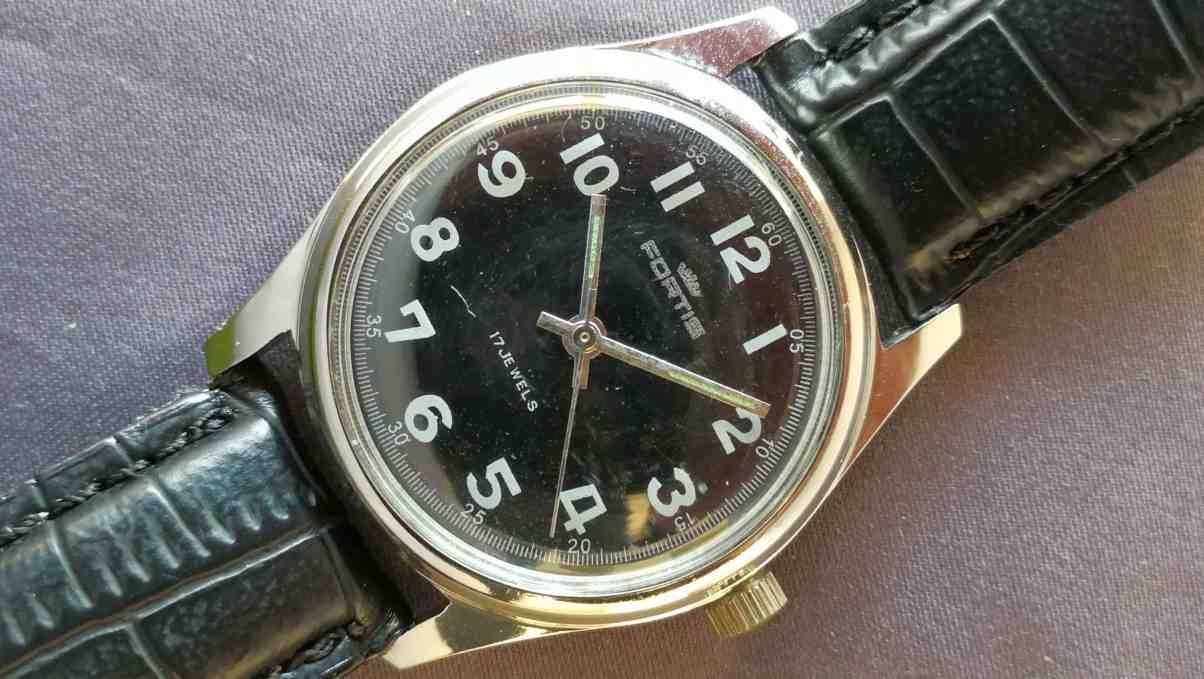 Fortis Manual Black Dial