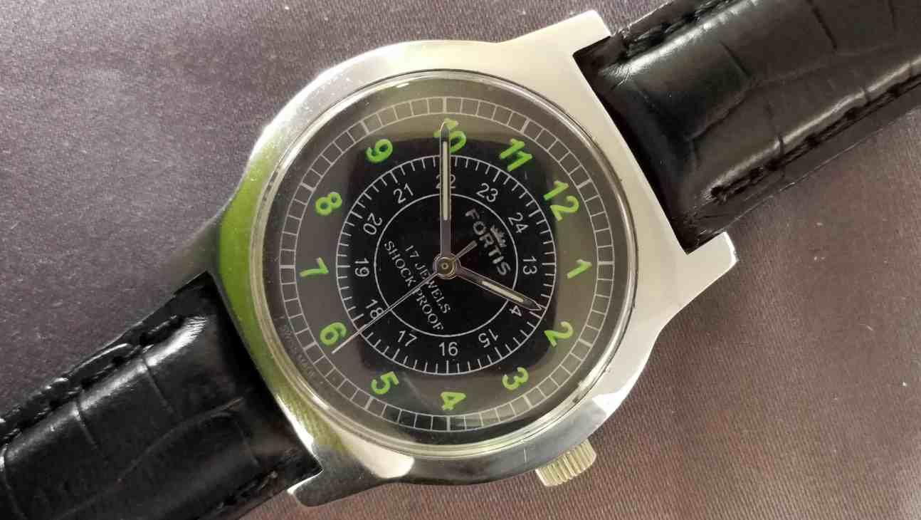 Fortis Manual Black Dial