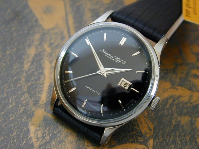 IWC Black Dial Date SS Auto 2