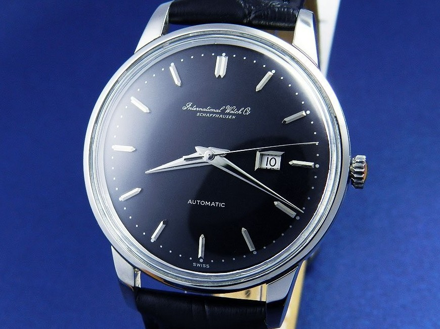 IWC Black Dial SS Date