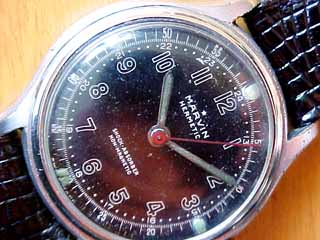 Marvin Black Dial Close