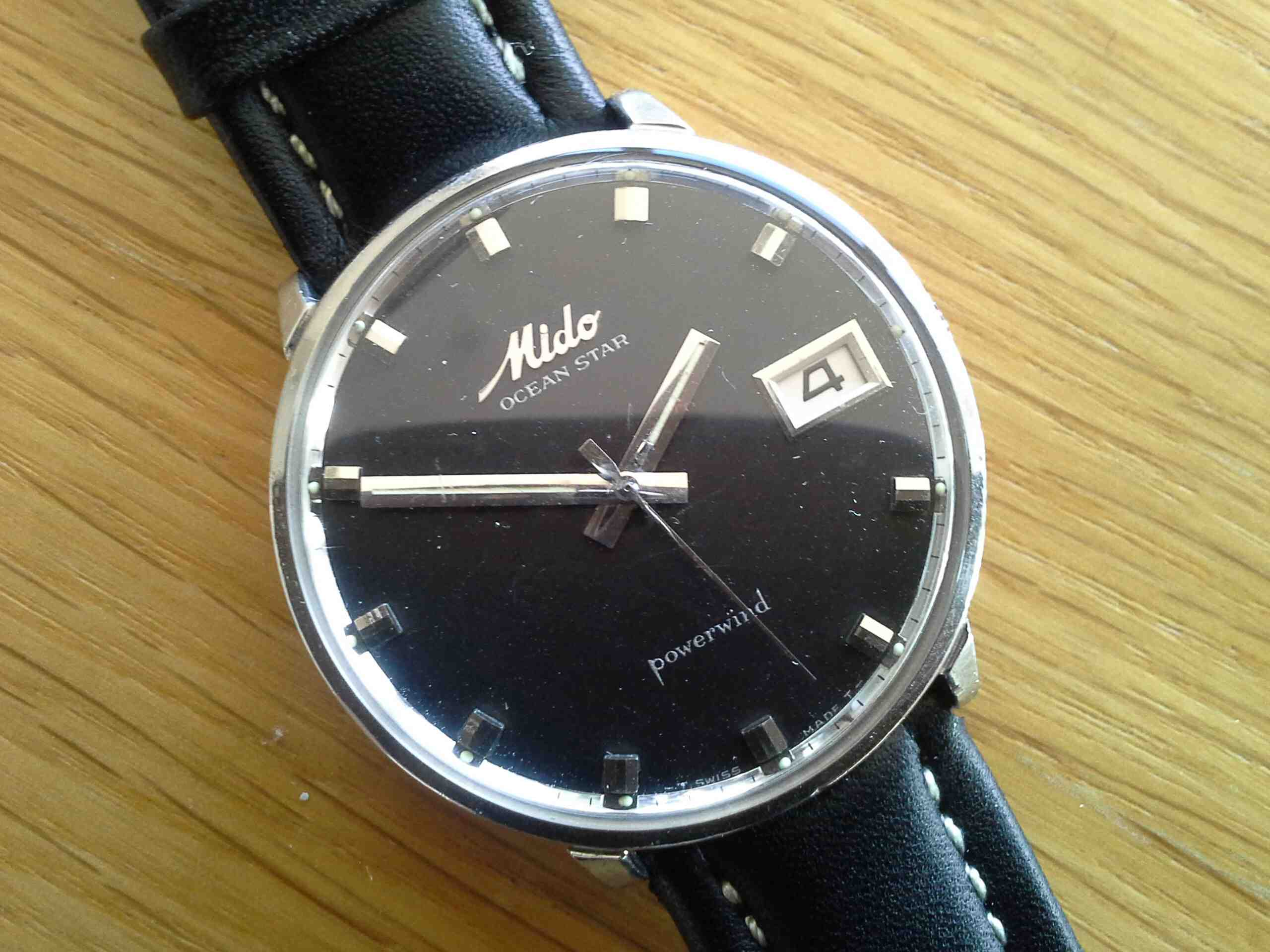Mido OS Black Dial Date