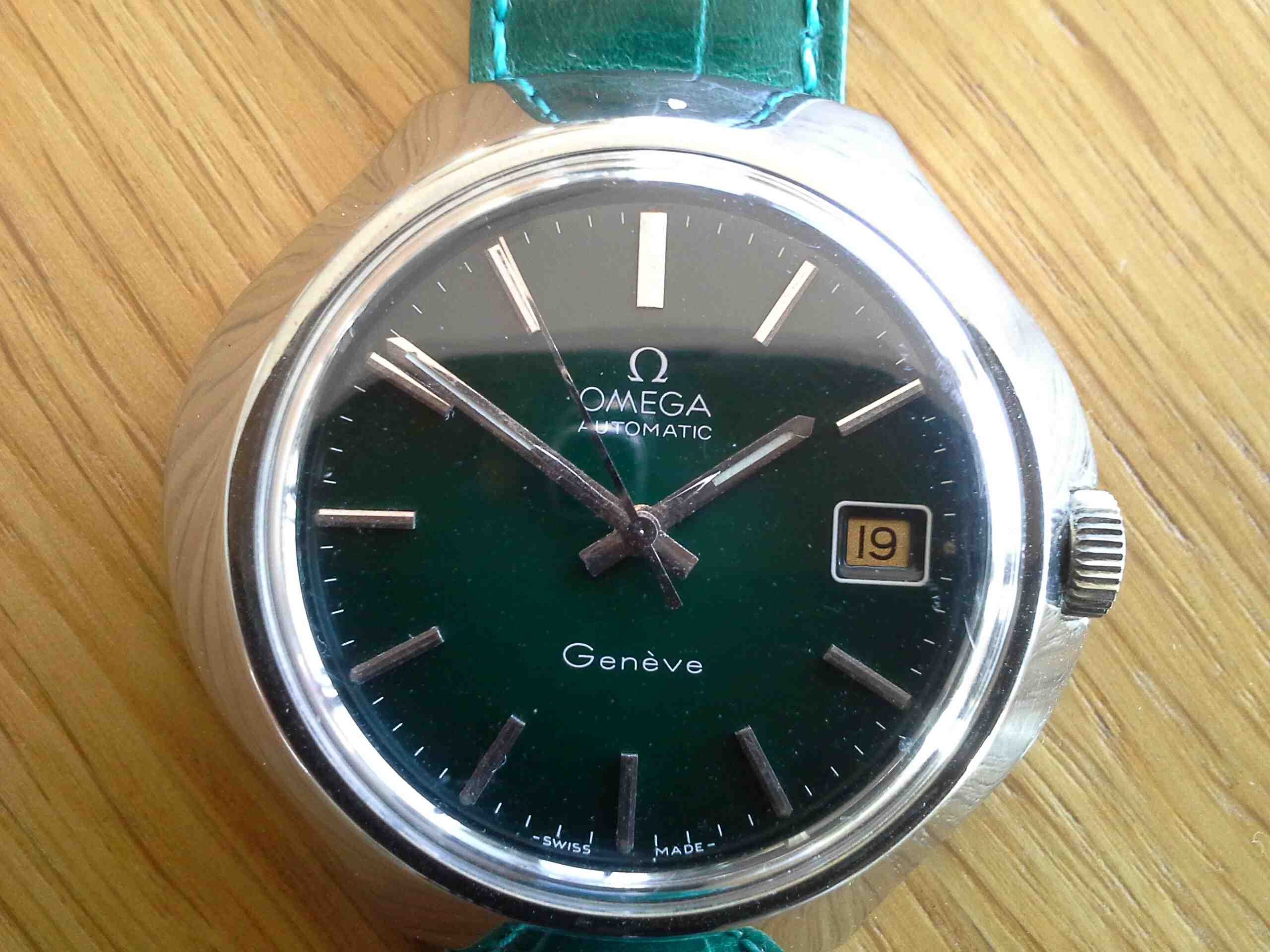 Omega Geneve Auto Green Dial