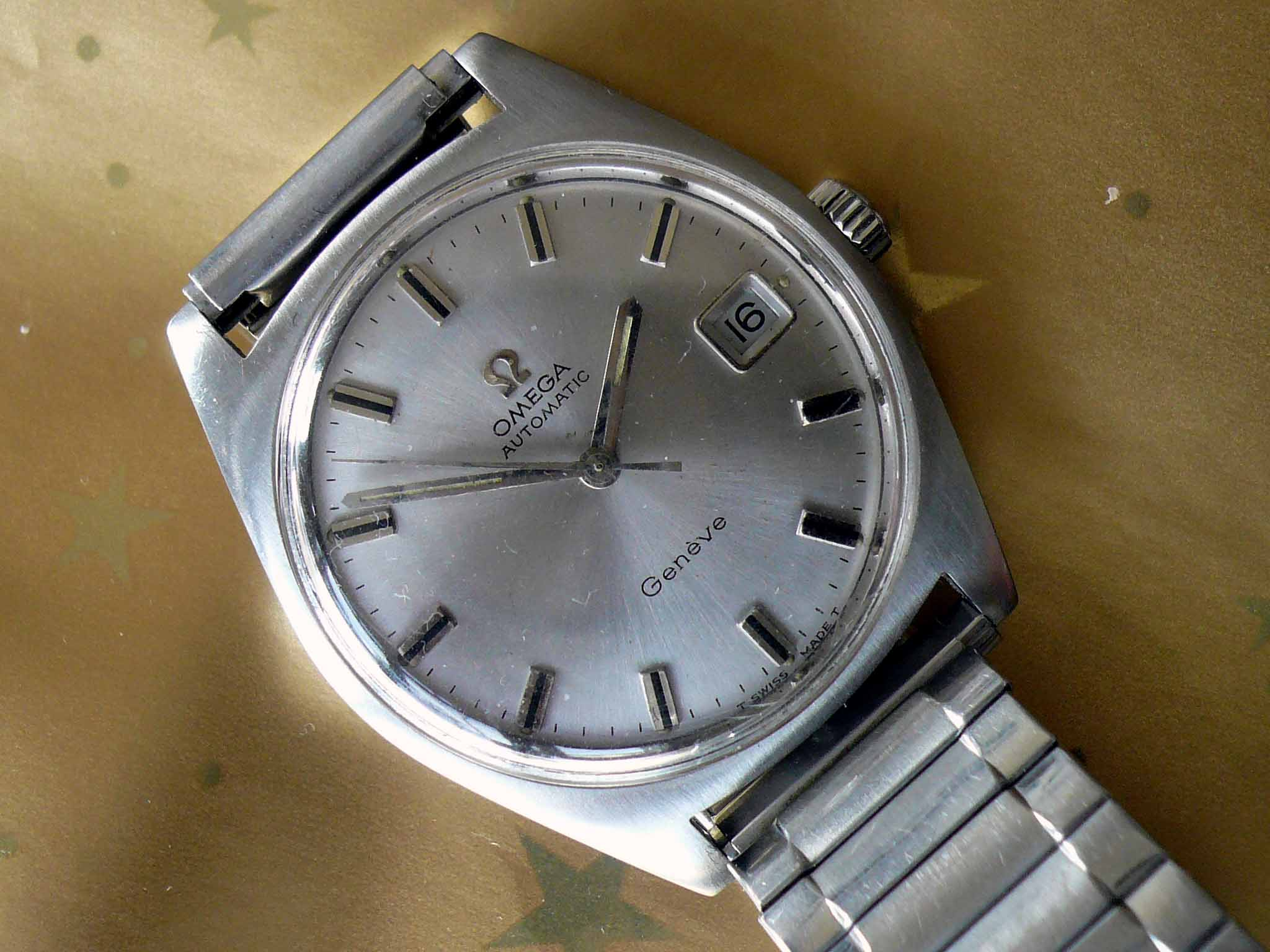 Omega Geneve Stainless Steel Automatic Date